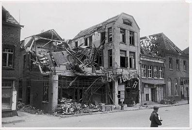 1945 Gennep oorlogsschade Hotel de Kroon