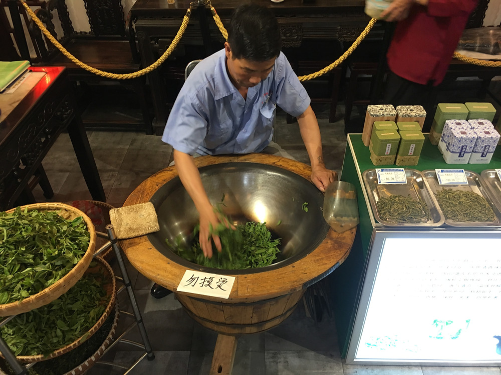 traditional green tea roasting by hand Shanghai