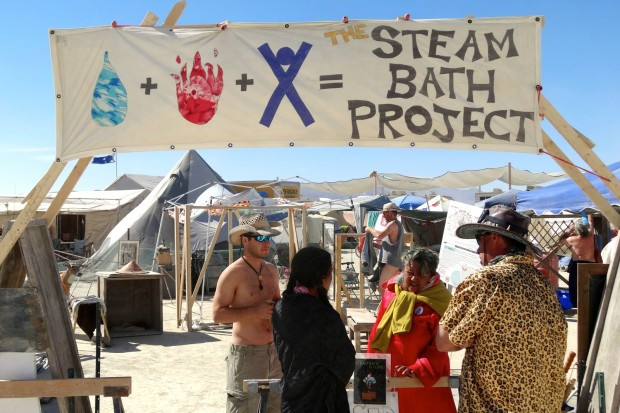 The Steam Bath Project at Burning Man, Black Rock City