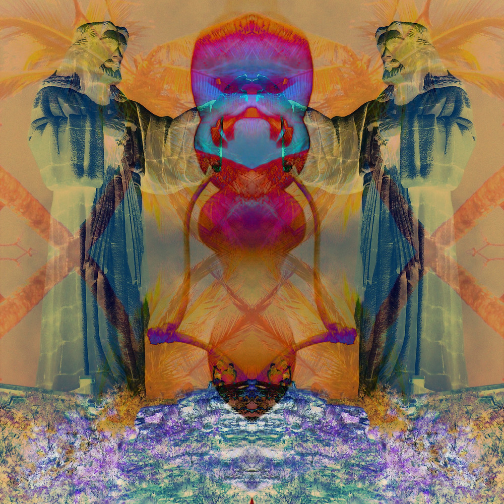 'Psychedelica GeeZus 1' by John Early Trippy Art Jesus (Reuse by Permission Only)