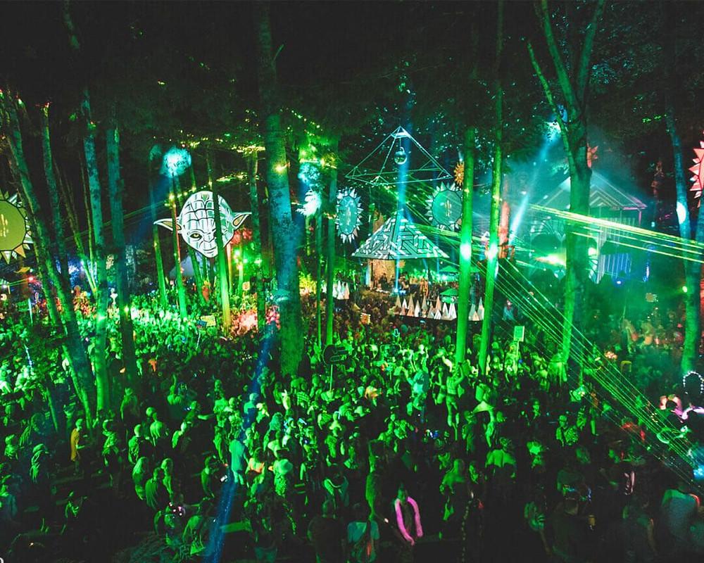 Fractal Forest Stage at Shambhala 2019 - Music Festival BC Canada