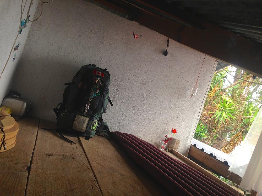 Backpacker wooden 'loft' in San Marcos Lake Atitlan