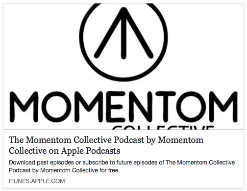 Momentom Collective iTunes Podcast Logo