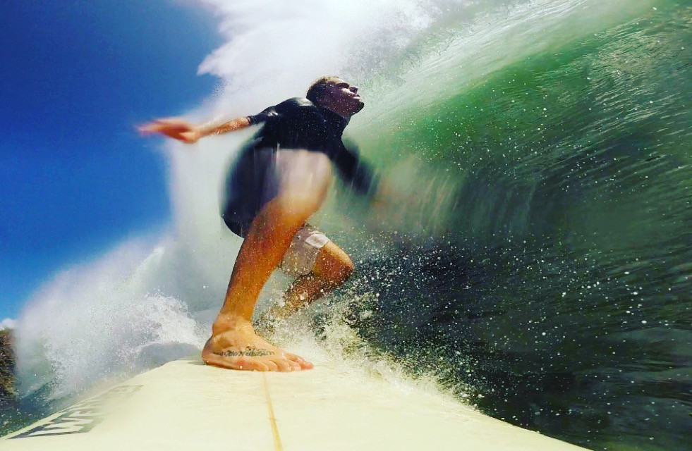 Surfing Nicaragua emerald wall (Photo by John Early)