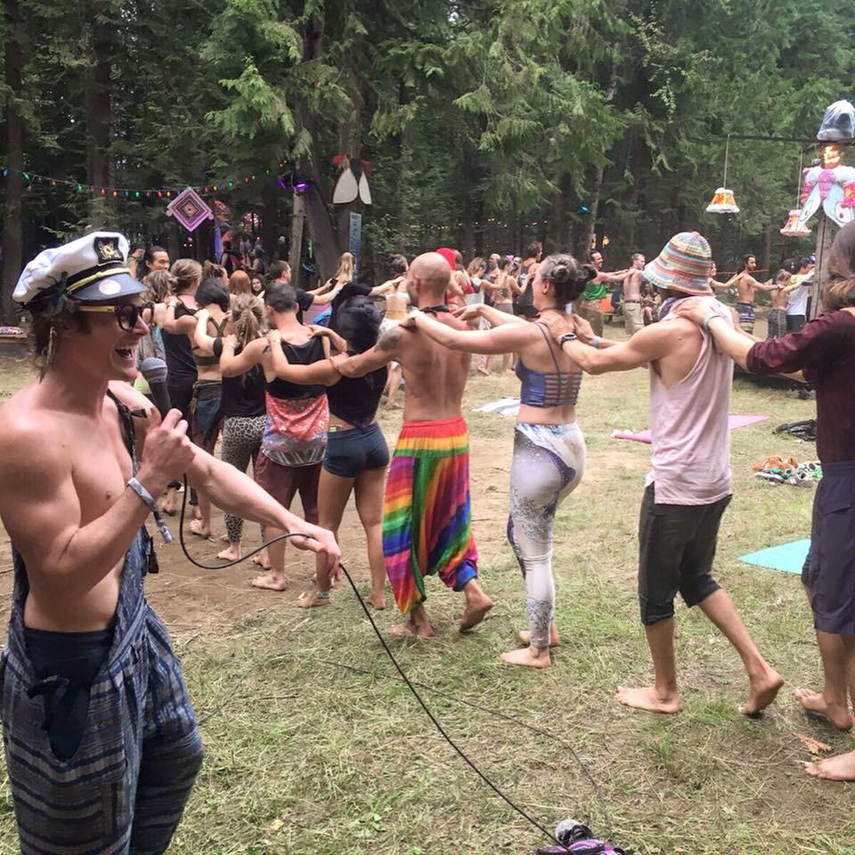 Massage Train Momentom Collective Acro Yoga Workshop Cedar Lounge Shambhala Music Festival 2019