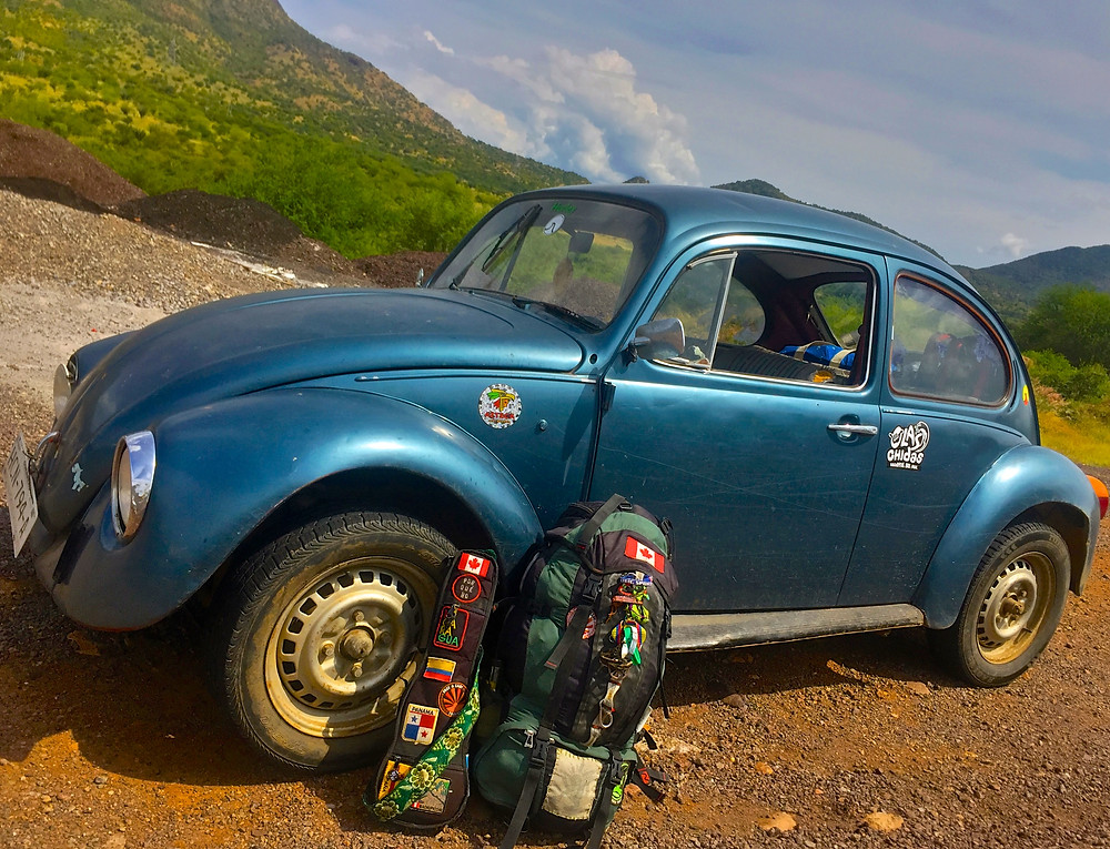 hitchhiking mexico in a volkswagon bug vw guerrero photo by author John Ear