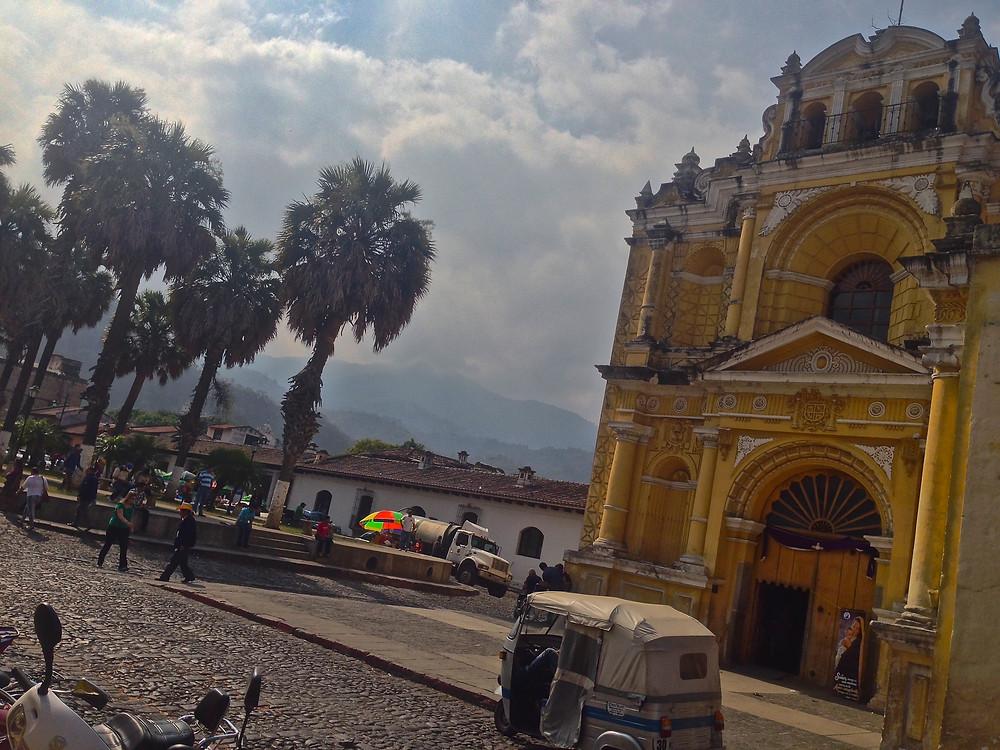 Antigua church and street , Guatemala (Photo by John Early)