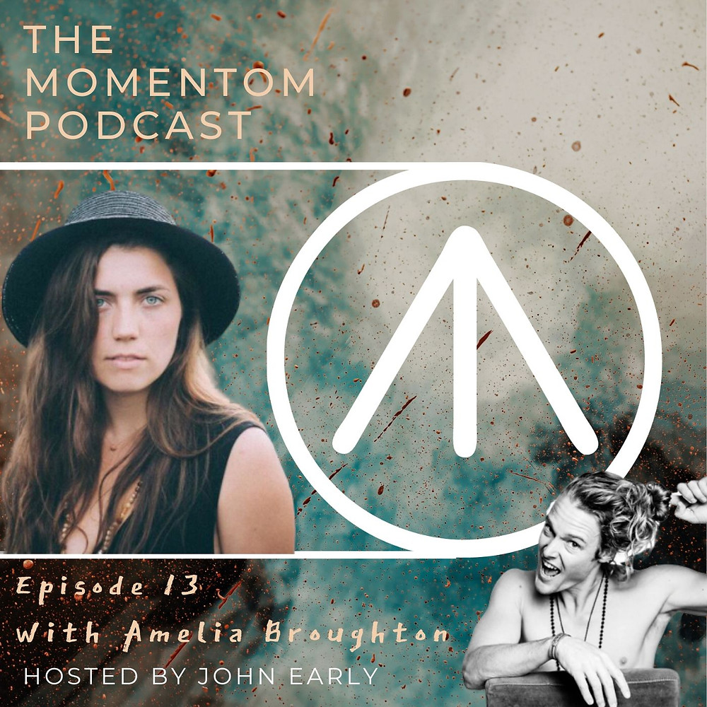 Amelia Broughton momentom collective podcast hosted by John Early Authentic relating