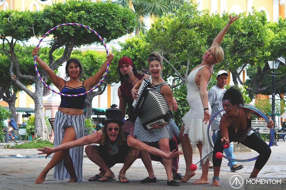 Momentom Collective Circus Island take the streets of Granada Nicaragua