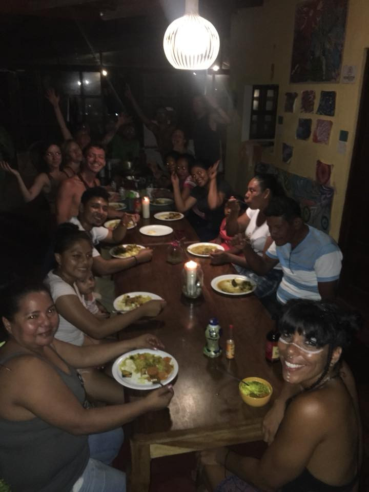 Circus Island Family dinner with local staff and families Nicaragua