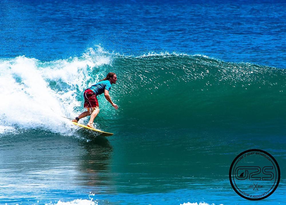 John Early surf at Casa Horizon, Playa Escameca, Nicaragua Photo by One 2 Surf Nica