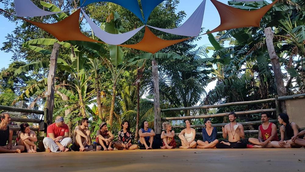 Circus Island 2021 - Momentom Collective Artist Residency El Pital Isla Ometepe Community Circle