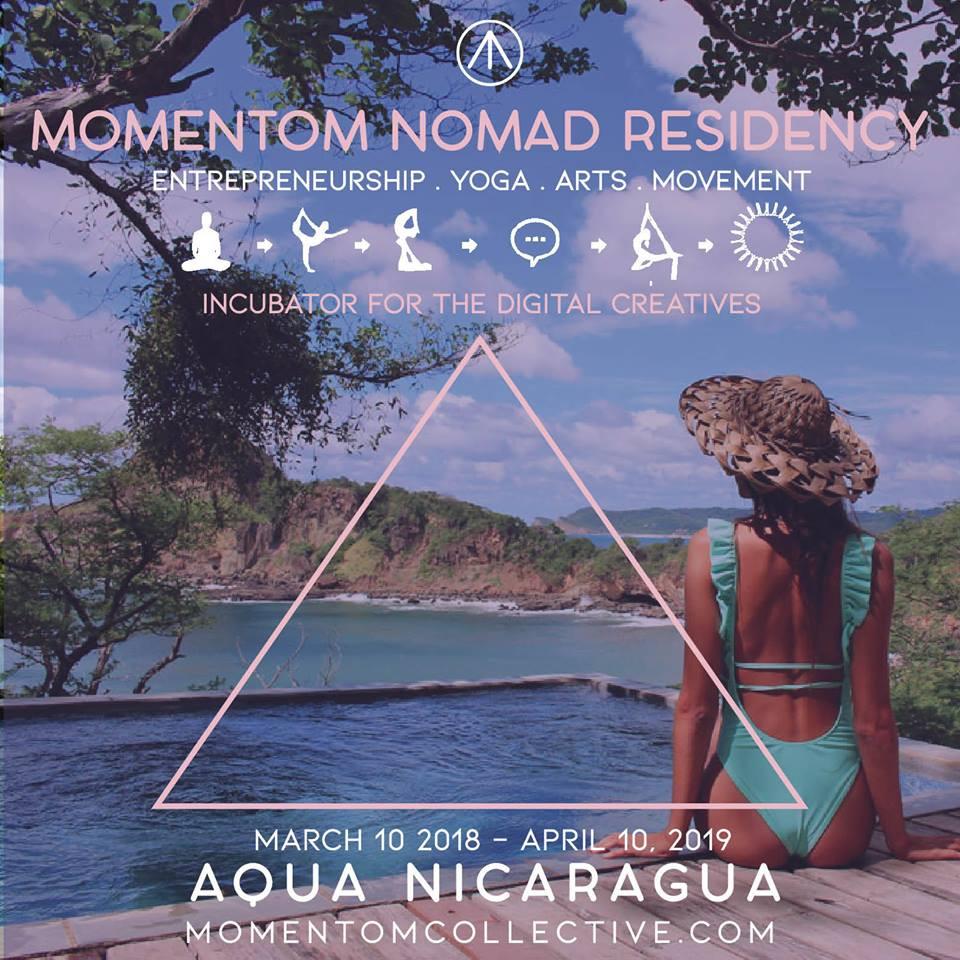 digital nomad residency artist cowork nicaragua momentom collective aqua resort wellness centre