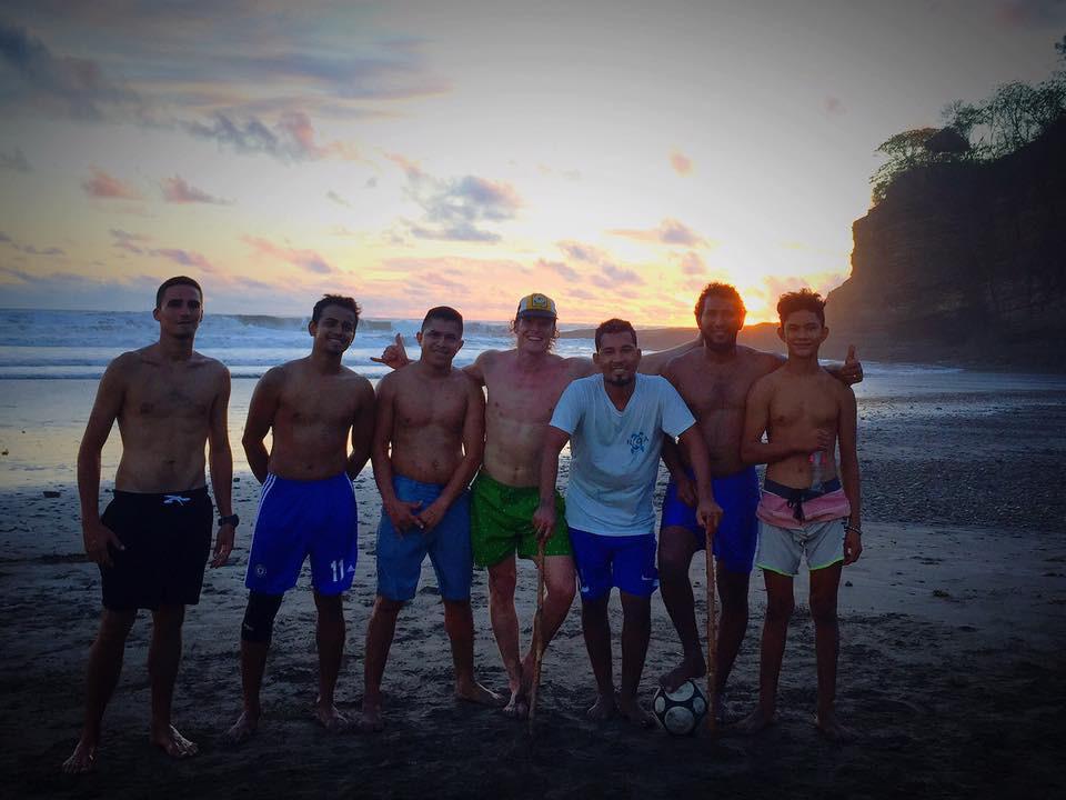 Familia Escameca John Early surf at Casa Horizon, Playa Escameca, Nicaragua