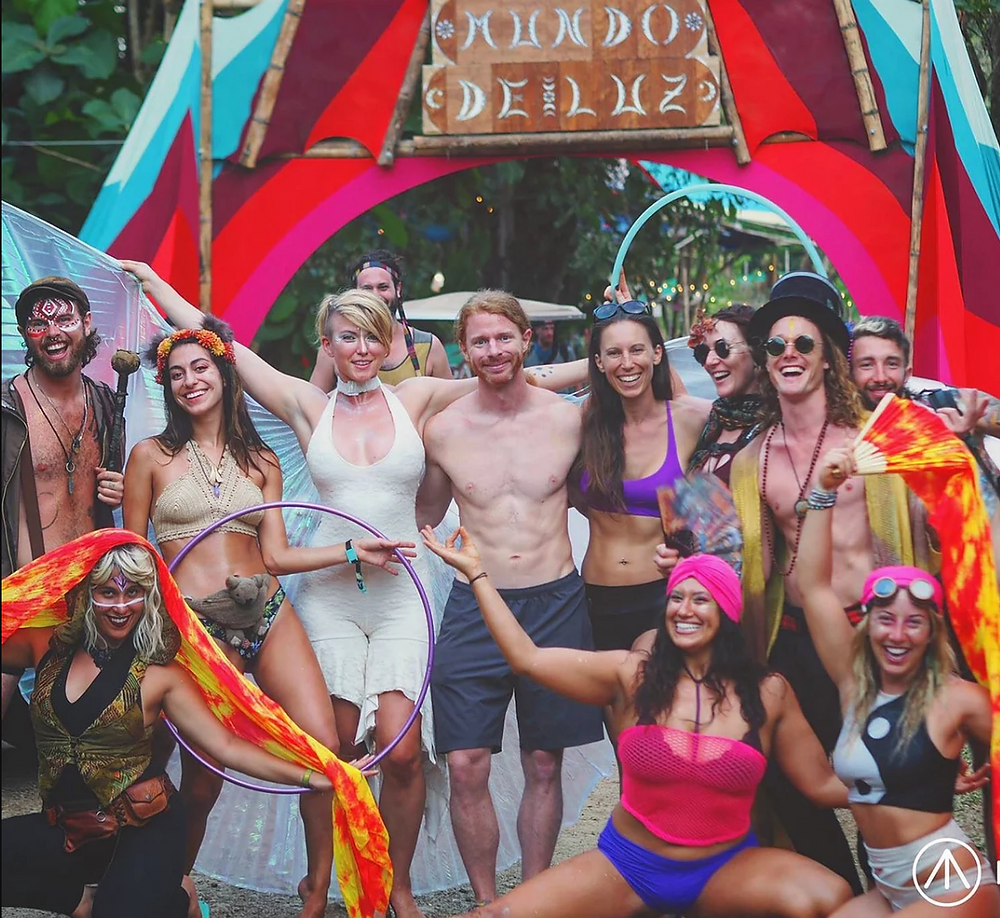 momentom collective JP Sears at envision festival 2018 circus theme camp j.p. costa rica
