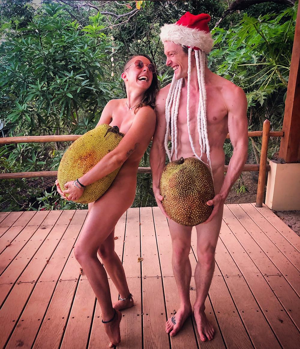 John and Francesca - Naked Jackfruit Christmas Miracle Casa Horizon Nicaragua Jaca