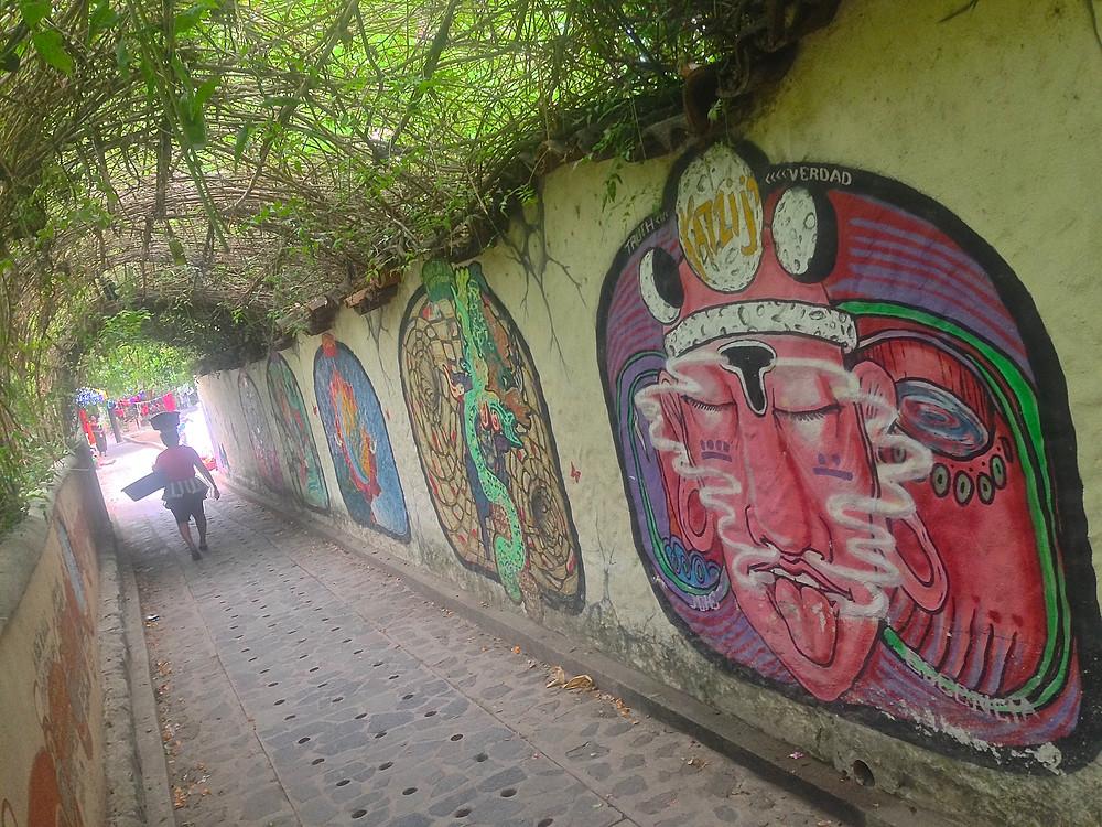 The walkway through San Marcos de Laguna, Lago de Atitlan, Guatemala (Photo by John Early)