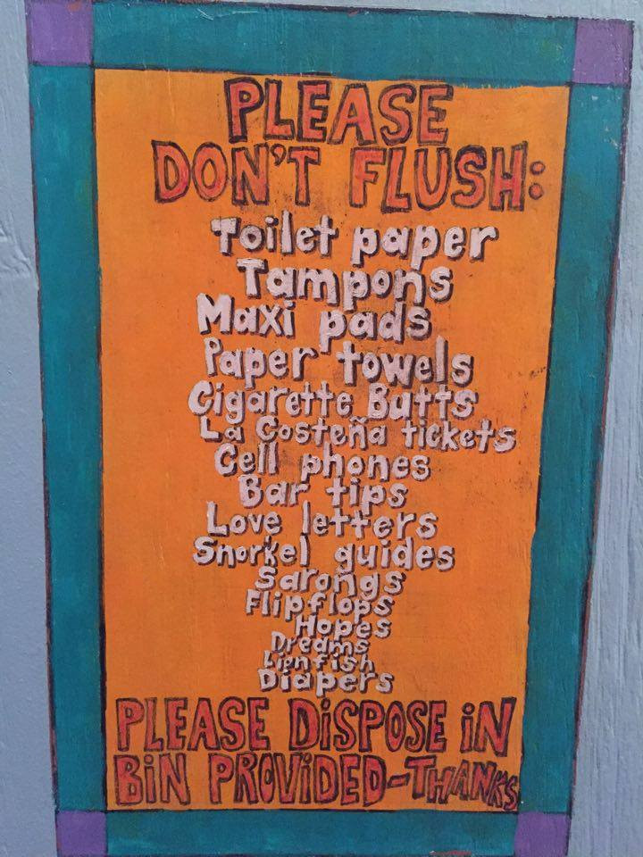 toilet rules in corn islands