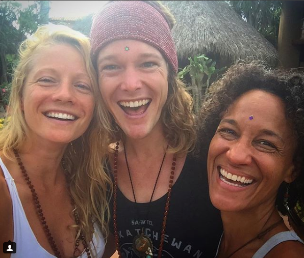 Kula Collective yoga Teacher training graduate john early author in Present Moment Retreat Troncones Mexico  with CJ Ananda and Cher