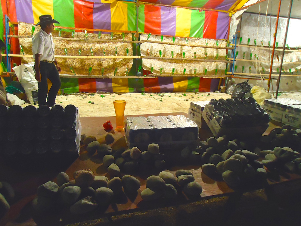 Rock throwing for beer prizes - Sayulita Carnival Fair in Mexico - Photo by John Early