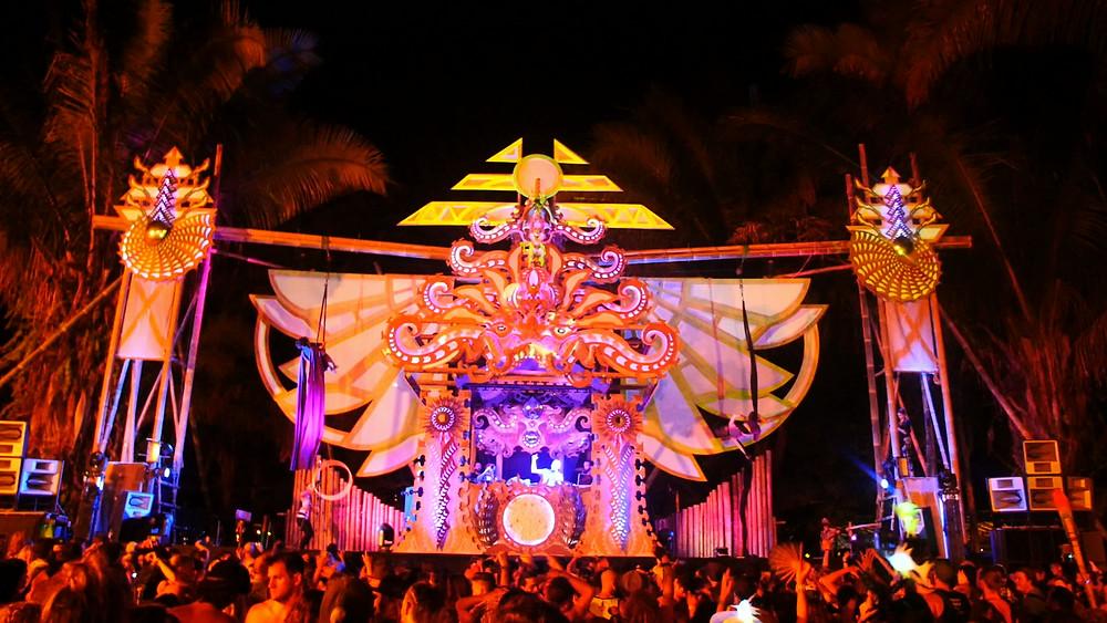 Luna Stage 2017 Envision Festival, Uvita Costa Rica