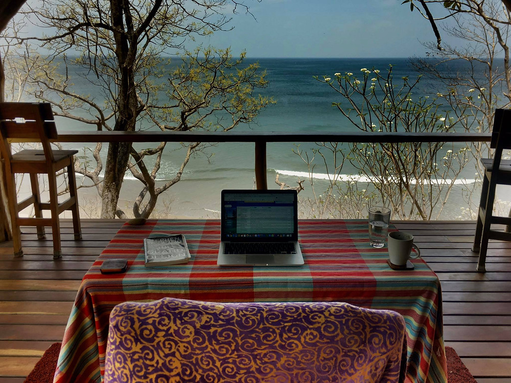 Another Day in the office at Casa Horizon, Playa Escameca San Juan del Sur Nicaragua surf culture digital nomad paradise lifestyle - Photo by John Early