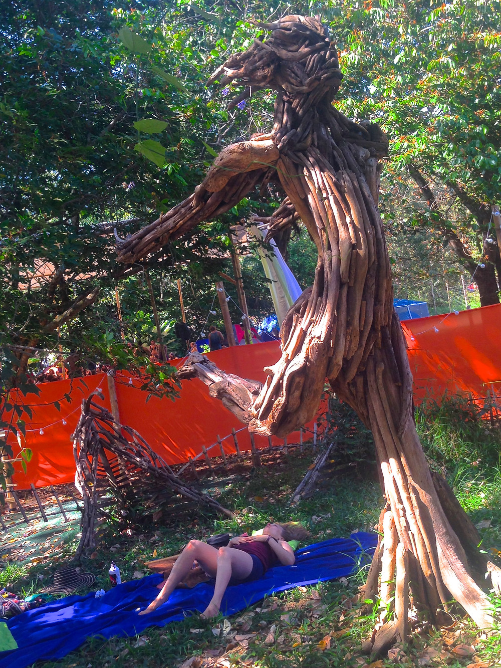 Driftwood art sculpture Envision Festival 2017 (Photo by John Early)