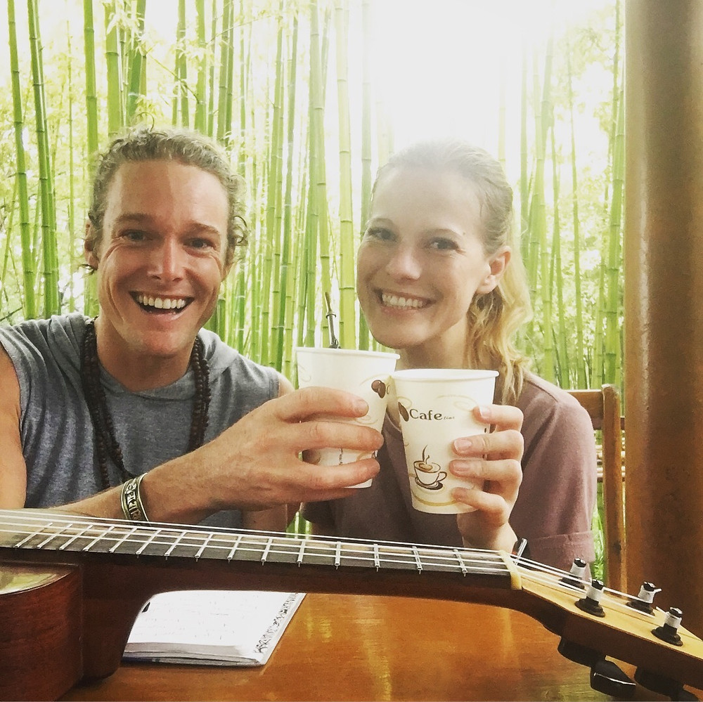 John and Ali in Shanghai Bamboo Garden
