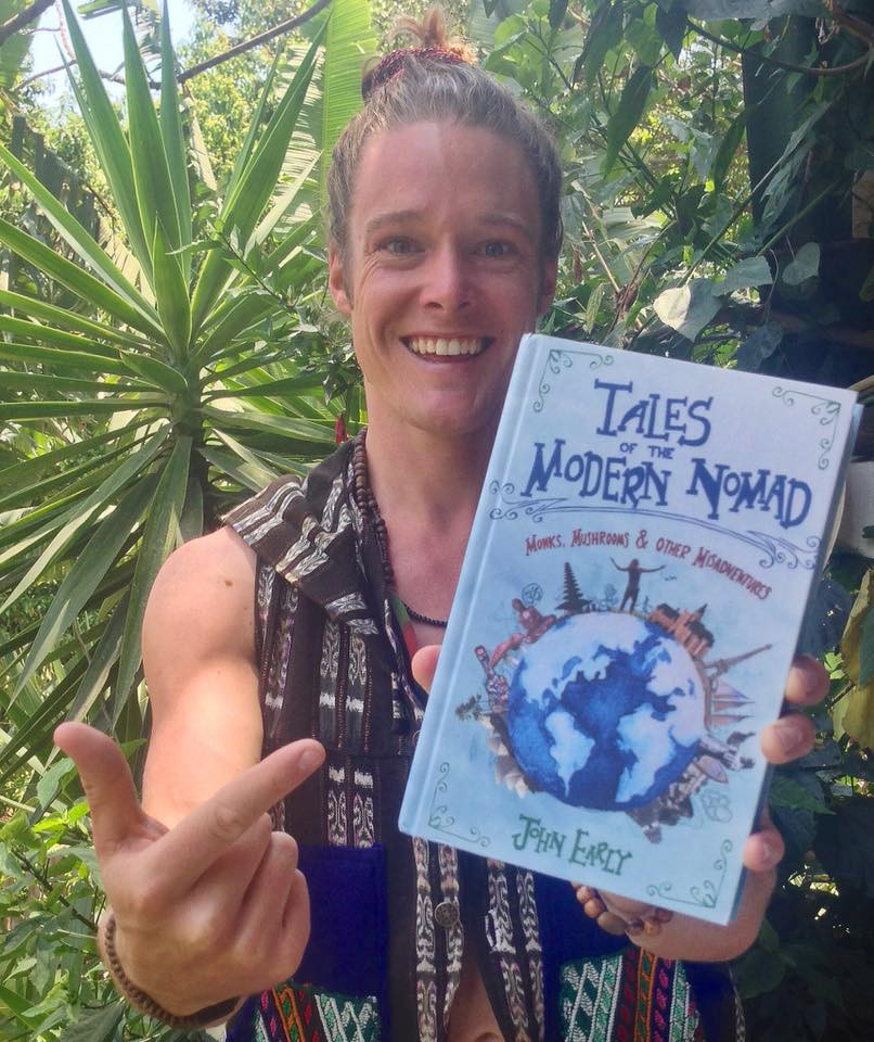 tales of the modern nomad cover with author john early in guatemala