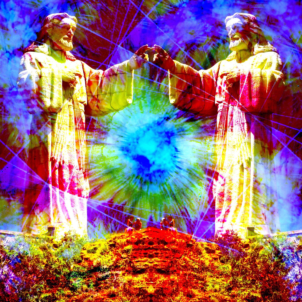 'Psychedelica GeeZus 2' by John Early Trippy Art Jesus (Reuse by Permission Only)