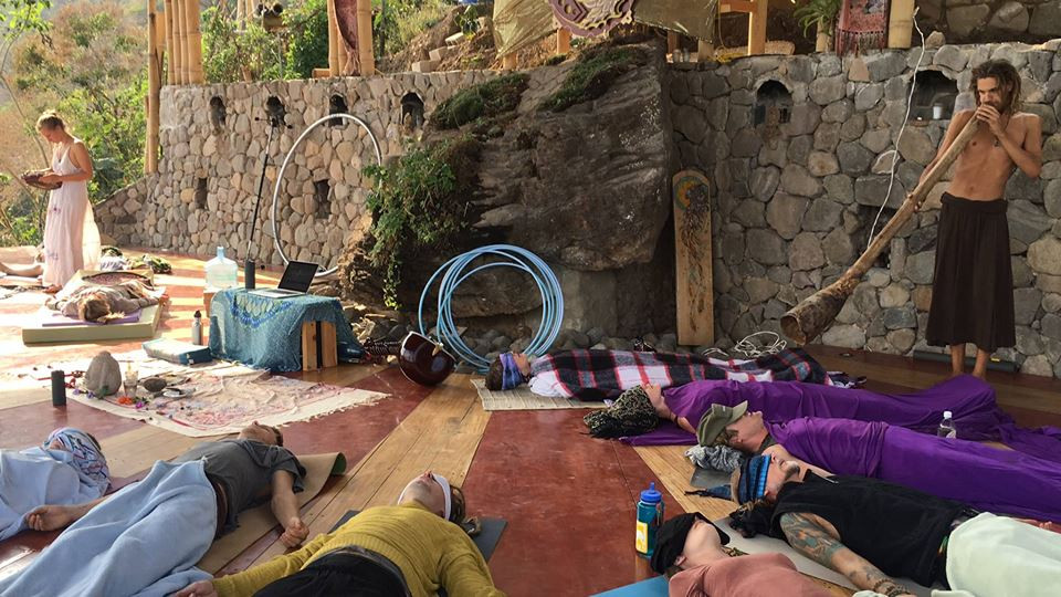 Breathwork Sound Healing Didgeridoo Eagles Nest San Marcos Guatemala Momentom Collective Artist Residency