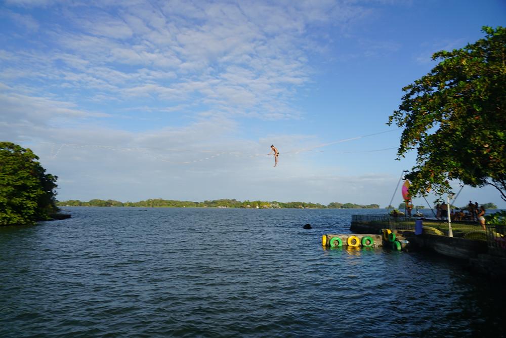 circus island slackline nicaragua momentom collective john early slackline guy granada highline