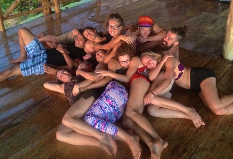 Cuddle Puddle at Momentom Collective Circus Artist Residency Casa Nicaragua Paradise Bay