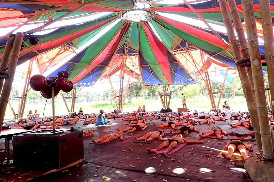 Nidra yoga tent at Envision Festival 2017 (Photo by Therese Lowton)
