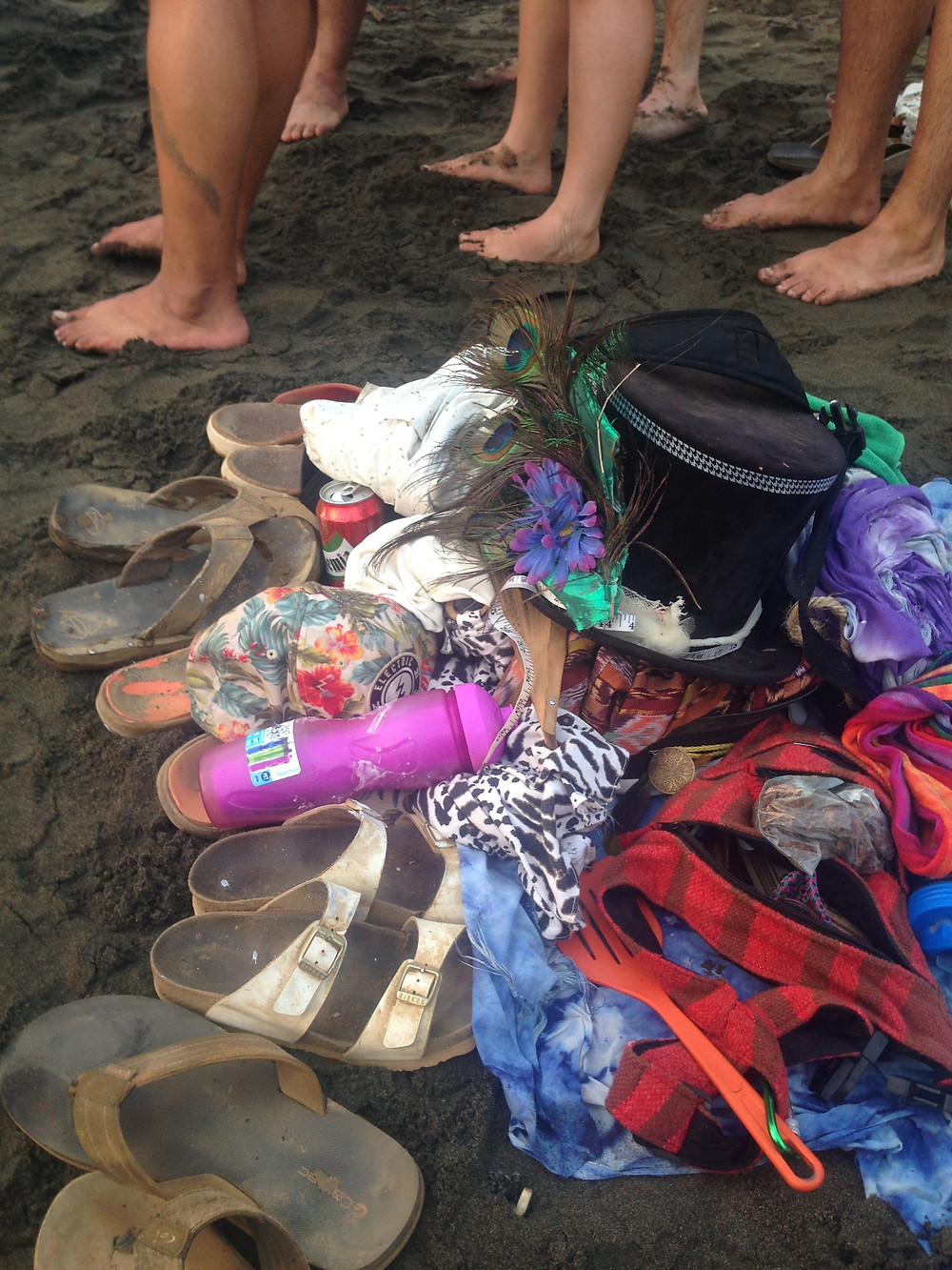 Festival beach pile