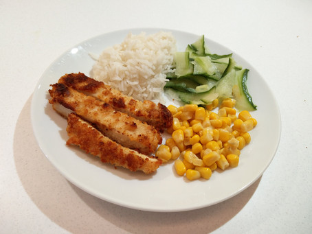 Chicken katsu at home