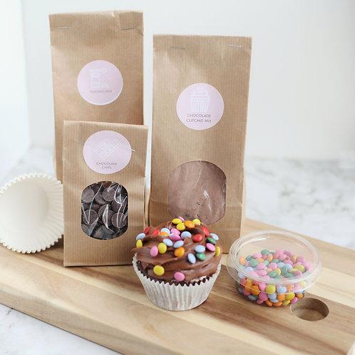Chocolade cupcakes baking kit