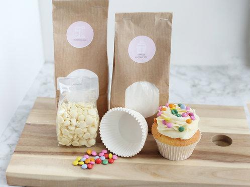 Vanille cupcakes baking kit