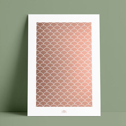 Serié Graphique Kupfer/Weiss – Geometric 01