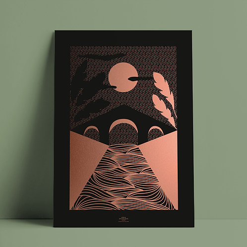Serié Graphique Kupfer/Schwarz – Bridge 02