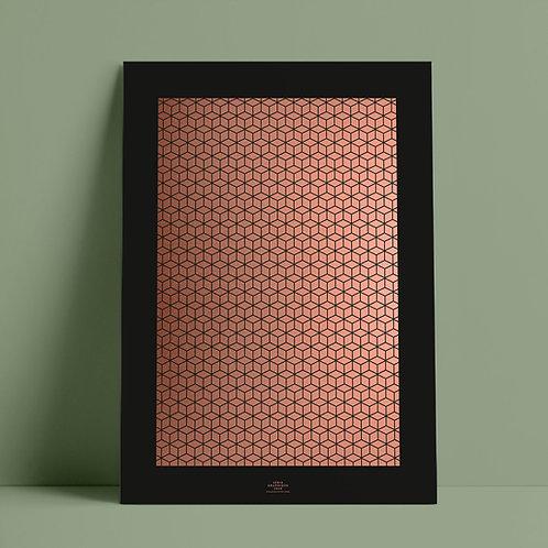 Serié Graphique Kupfer/Schwarz – Geometric 02