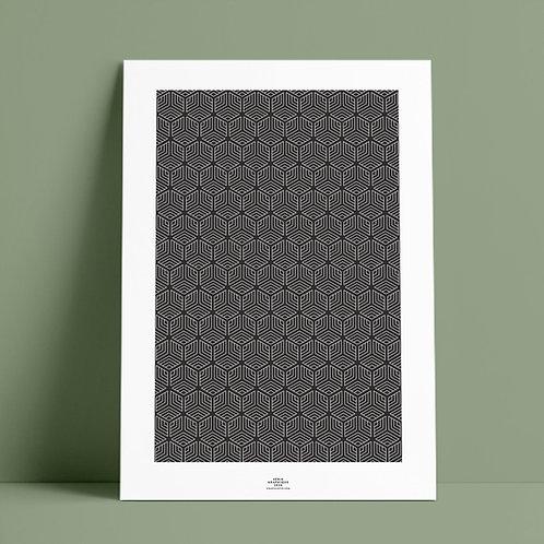 Serié Graphique Black – Geometric 03