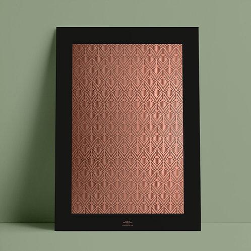 Serié Graphique Kupfer/Schwarz – Geometric 03