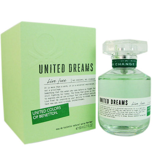 BENETTON UNITED DREAM LIVE FREE EDT 2.7 OZ WOMEN