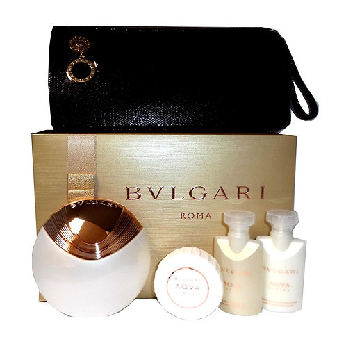 BVLGARI AQVA DIVINA SET WOMAN (EDT+BL+SG+SOAP IN BEAUTY POUCH)