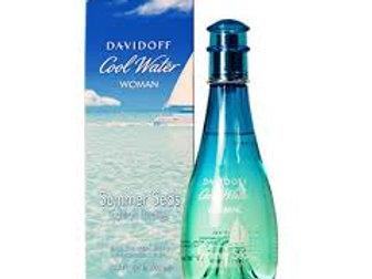 DAVIDOFF COOLWATER SUMMER SEAS EDT 3.4 OZ WOMAN