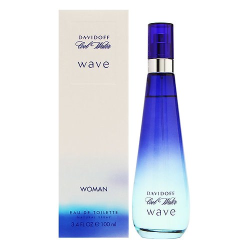 DAVIDOFF COOLWATER WAVE EDT 3.4 OZ WOMAN