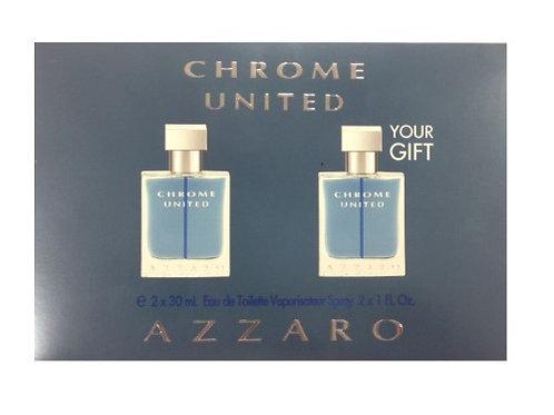 AZZARO SET AZZARO CHROME UNITED MAN (2 X EDT 1.0 OZ)