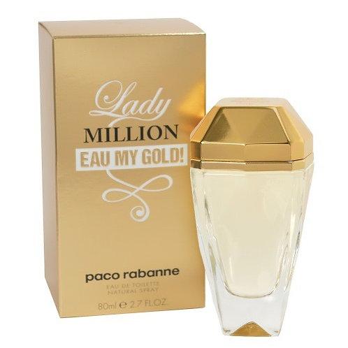 PACO RABANNE LADY MILLION EAU MY GOLD EDT 2.7 OZ W