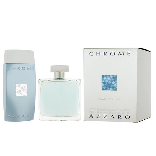 AZZARO SET AZZARO CHROME MAN TRAVEL SET (EDT 3.4 + SG 6.8)